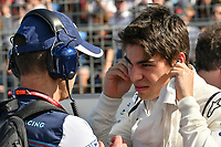 March 25, 2018: Lance Stroll (CAN) #18 from the Williams Martini Racing team on the grid prior to the start of the 2018 Australian Formula One Grand Prix at Albert Park, Melbourne, Australia. Photo Sydney Low