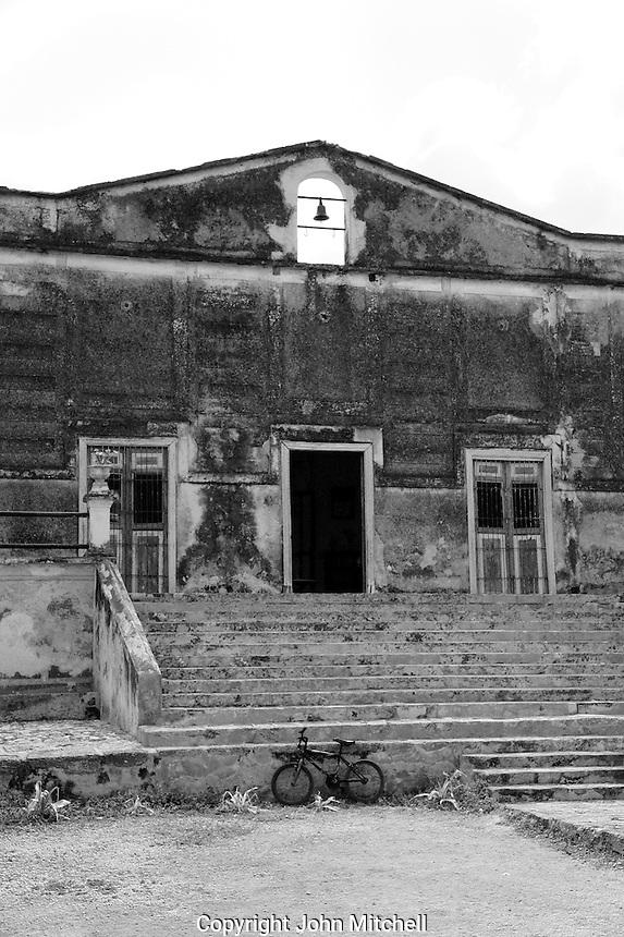 Main building at Hacienda Yaxcopoil, Yucatan, Mexico.