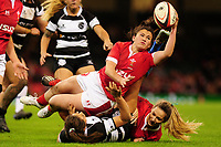 Kayleigh Powell of Wales in action during the International friendly match between Wales and Barbarians at the Principality Stadium in Cardiff, Wales, UK. Saturday 30 November 2019