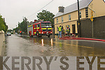 UNDER WATER: The scene in Ardfert on Wednesday morning as flooding affected the village after heavy rain.