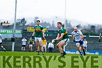 Gavin Crowley  Kerry in action against Gavin Doogan Monaghan during the Allianz Football League Division 1 Round 5 match between Kerry and Monaghan at Fitzgerald Stadium in Killarney, on Sunday.