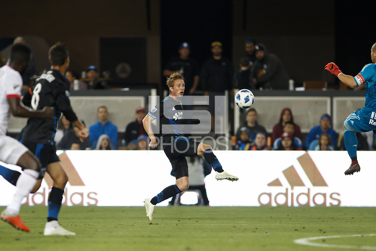 San Jose, CA - Saturday October 06, 2018: Jackson Yueill during a Major League Soccer (MLS) match between the San Jose Earthquakes and the New York Red Bulls at Avaya Stadium.
