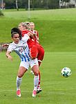 12.08.2017, Sportplatz, Hawangen, GER, FSP, Bayern M&uuml;nchen vs FC Z&uuml;rich Frauen, im Bild tanz um den Ball, Meriame Terchoun  (Zuerich #24), Verena Fai&szlig;t / Faisst (Muenchen #22)<br /> <br /> Foto &copy; nordphoto / Hafner