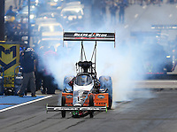 Jul 24, 2016; Morrison, CO, USA; NHRA top fuel driver Clay Millican during the Mile High Nationals at Bandimere Speedway. Mandatory Credit: Mark J. Rebilas-USA TODAY Sports