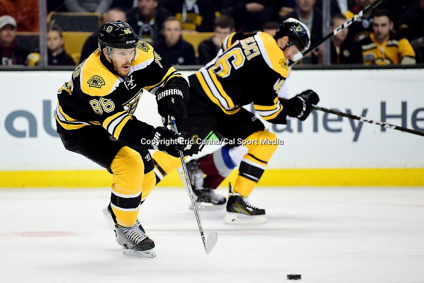 Thursday, December 8, 2016: Boston Bruins defenseman Kevan Miller (86) in game action during the National Hockey League game between the Colorado Avalanche and the Boston Bruins held at TD Garden, in Boston, Mass. Eric Canha/CSM