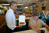 United States President Barack Obama stops for lunch at Ross' Restaurant in Bettendorf, Iowa, June 28, 2011..Mandatory Credit: Pete Souza - White House via CNP