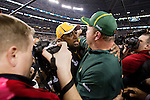 Green Bay Packers head coach Mike McCarthy and Pittsburgh Steelers head coach embrace after the Packers won Super Bowl XLV on Sunday, February 6, 2011, in Arlington, Texas. The Packers won 31-25. (AP Photo/David Stluka)