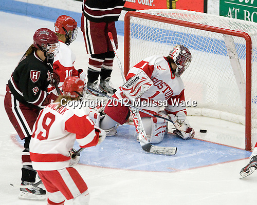 - The Boston University Terriers defeated the visiting Harvard University Crimson 2-1 on Sunday, November 18, 2012, at Walter Brown Arena in Boston, Massachusetts.