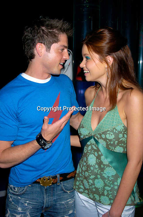Scott Bailey and Mandy Bruno ..at Marcia Tovsky's Pre Emmy party at Quo on May 19, 2004. ..Photo by Robin Platzer, Twin Images