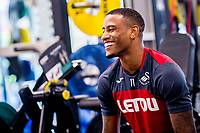 Luciano Narsingh reacts during the Swansea City training session at The Fairwood training Ground, Swansea, Wales, UK. Wednesday 13 September 2017