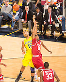 The University of Michigan men's basketball team beat Arkansas, 80-67, at Crisler Center in Ann Arbor, Miich., on December 8, 2012.
