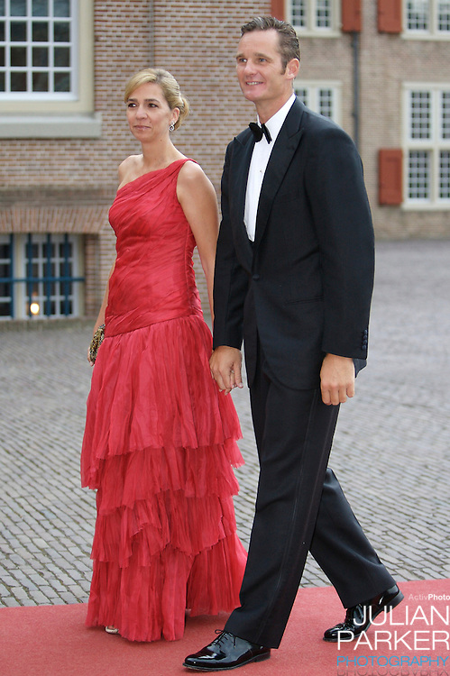 Infanta Cristina of Spain, and Husband Inaki Urdangarin, arrive for a Reception at Het Loo Palace in Apeldoorn, to celebrate the 40th Birthday of Crown Prince Willem Alexander, The Prince turned forty in April earlier this year.