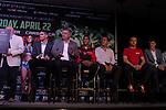 Conferencia de prensa final entre Miguel Marriaga y &Oacute;scar Valdez para su pelea en el StubHub Center de Carson, California. <br /> <br /> En la cartelera tambi&eacute;n expondr&aacute;n sus t&iacute;tulos Gilberto 'Zurdo' Ram&iacute;rez y Jessie Magdaleno.