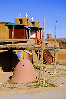 Clay houses at Taos Pueblo in New Mexico, USA