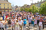 The crowd dancing at the Ceili? in the Square Milltown at the World Bodhran Championships in Milltown on Sunday