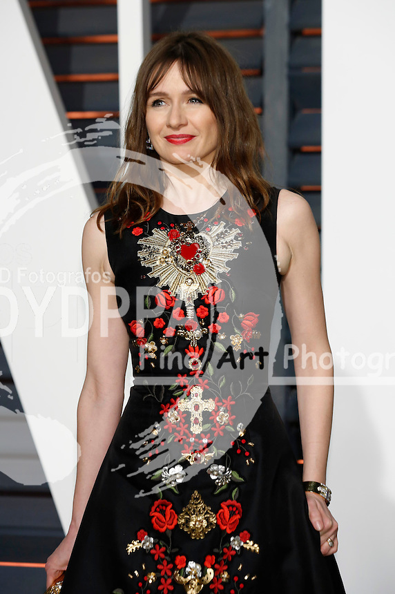 Emily Mortimer attending the Vanity Fair Oscar Party 2015 on February 22, 2015 in Beverly Hills, California.