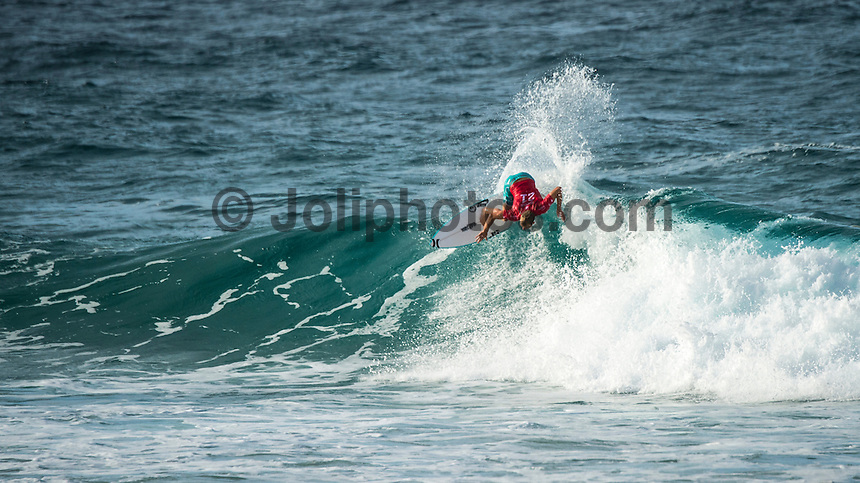 Snapper Rocks, Coolangatta Queensland Australia (Sunday, March 13 2016): Adrian Buchan (AUS) - Round Two of the first WCT event of the year, the Quiksilver Pro Gold Coast, was called on this morning with a number of top seeds hitting the water. In a day up upsets the Tour Rookies took out a good proportion of the heats with Stu Kennedy(AUS) defeating Kelly Slater (USA), Conner Coffin (USA) knowing out Kai Otton and Ryan Callinan  (AUS) eliminating Jordy Smith (ZAF) The event was put on hold for over 4 hours while organisers waited for conditions to improve. The surf was in the 3'-4' range most of the day.Photo: joliphotos.com