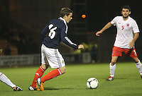 Peter Pawlett in the Scotland v Luxembourg UEFA Under 21 international qualifying match at St Mirren Park, Paisley on 6.9.12.