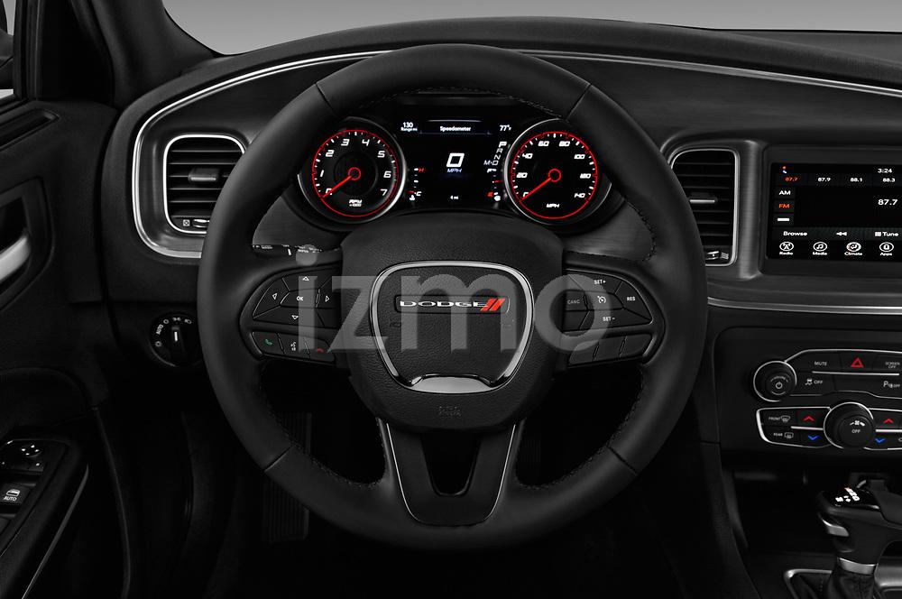 Car pictures of steering wheel view of a 2018 Dodge Charger SXT 4 Door Sedan
