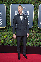 Nominated for BEST PERFORMANCE BY AN ACTOR IN A SUPPORTING ROLE IN A SERIES, LIMITED SERIES OR MOTION PICTURE MADE FOR TELEVISION for his role in &quot;Big Little Lies,&quot; actor Alexander Skarsg&aring;rd arrives at the 75th Annual Golden Globe Awards at the Beverly Hilton in Beverly Hills, CA on Sunday, January 7, 2018.<br /> *Editorial Use Only*<br /> CAP/PLF/HFPA<br /> &copy;HFPA/PLF/Capital Pictures