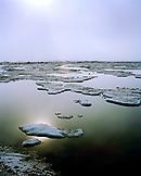 USA, Alaska, Barrow, landscape of an ice floe in Point Barrow, near the North Pole