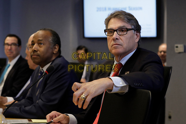 U.S. Secretary of Energy Rick Perry attends the 2018 Hurricane Briefing at the Federal Emergency Management Agency Headquarters on June 6, 2018 in Washington, DC. <br /> <br /> CAP/MPI/RS<br /> &copy;RS/MPI/Capital Pictures