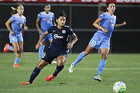 Piscataway, NJ - Saturday Aug. 27, 2016: Raquel Rodriguez, Vanessa DiBernardo during a regular season National Women's Soccer League (NWSL) match between Sky Blue FC and the Chicago Red Stars at Yurcak Field.