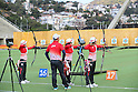 (L to R) <br /> Kaori Kawanaka, <br />  Chung Tae Kim, <br /> Yuki Hayashi, <br /> Saori Nagamine (JPN), <br /> AUGUST 1, 2016 - Archery : <br /> Official training <br /> at Sambodromo <br /> during the Rio 2016 Olympic Games in Rio de Janeiro, Brazil. <br /> (Photo by YUTAKA/AFLO SPORT)