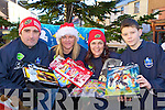 Killorglin Rugby Club members Jerome, Mairead, Breda and Ruadha?n O'Sullivan who was collecting toys for the Toys for Tubs appeal in Killorglin on Sunday.