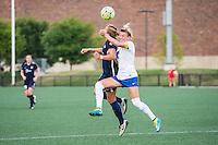 Allston, MA - Sunday July 17, 2016: Kristin Grubka, Kassey Kallman during a regular season National Women's Soccer League (NWSL) match between the Boston Breakers and Sky Blue FC at Jordan Field.