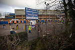 The car park outside the west stand is largely deserted before Sheffield Wednesday take on Peterborough United in a Coca-Cola Championship match at Hillsborough Stadium, Sheffield. The home side won by 2 goals to 1 giving Alan Irvine his third straight win since taking over as Wednesday's manager.