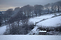 14/01/16<br /> <br /> A cottage nestles in a picture-perfect snowy scene in Sparrowpit near Buxton in the Derbyshire Peak District near Buxton.<br /> <br /> All Rights Reserved: F Stop Press Ltd. +44(0)1335 418365   +44 (0)7765 242650 www.fstoppress.com