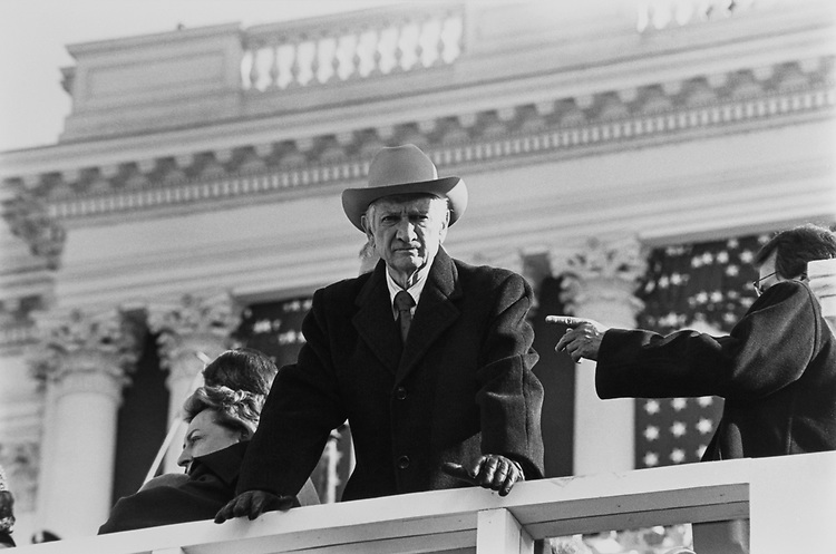 Rep. Jack Brooks, D-Tex. on inauguration day in Jan., 1993. (Photo by Maureen Keating/CQ Roll Call)