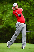 Jon Rahm (ESP) watches his tee shot on 2 during round 4 of the Shell Houston Open, Golf Club of Houston, Houston, Texas, USA. 4/2/2017.<br /> Picture: Golffile | Ken Murray<br /> <br /> <br /> All photo usage must carry mandatory copyright credit (&copy; Golffile | Ken Murray)