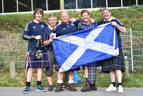 07.09.2014. Dortmund, Germany.   international match Germany Scotland  in Signal Iduna Park in Dortmund. Scottish supporters at Signal Iduna Park