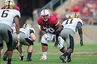 STANFORD, CA - September 13, 2014: The Stanford Cardinal vs Army Black Knights game at Stanford Stadium in Stanford, CA. Final score, Stanford Cardinal 35, Army Black Knights 0