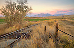 Idaho, Southeastern, Blackfoot, Fort Hall Indian Reservation. Abandoned tracks towards Mt. Putnam in the Portneuf Range.