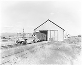 D&amp;RGW Gunnsion car shop, looking east, with two flangers and at least two stock cars waiting for repair.<br /> D&amp;RGW  Gunnison, CO  Taken by Krause, John