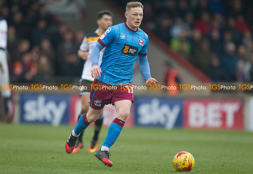 Sam Mantom of Scunthorpe during Scunthorpe United vs Port Vale, Sky Bet EFL League 1 Football at Glanford Park on 28th January 2017