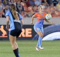 Ellie Brush (8) of the Houston Dash gains control of a loose ball against the Chicago Red Stars on Saturday, April 16, 2016 at BBVA Compass Stadium in Houston Texas.