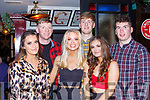 Enjoying New Years Eve in the Squires bar Killarney on Monday night were l-r: Fiona Shannon, Darragh Connor, Tara Tormey, Cian O'Doherty, Ciara Ryan and Martin Neville