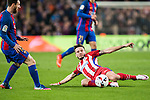 Saul Niguez Esclapez of Atletico de Madrid in action during their Copa del Rey 2016-17 Semi-final match between FC Barcelona and Atletico de Madrid at the Camp Nou on 07 February 2017 in Barcelona, Spain. Photo by Diego Gonzalez Souto / Power Sport Images
