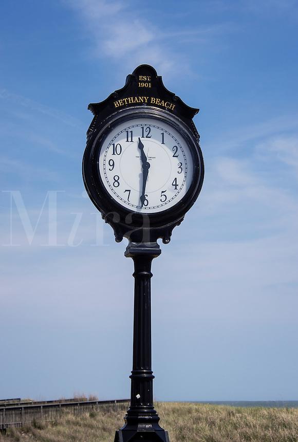 Bethany Beach boardwalk clock, Delaware, USA
