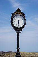 Bethany Beach boardwalk clock, Delaware, USA
