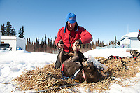Photographs of John Baker's 2011 Iditarod run. Anvik checkpoint. Stephen Nowers/Alaska Dispatch.
