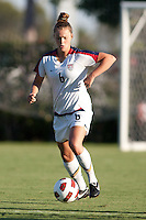 The U17 Women's National teams of USA and Japan played to a 2-2 draw on David Vanole Field during an international friendly match at Home Depot Center in Carson, California on August 25, 2011.