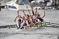Henley, GREAT BRITAIN, Grand Challenge Cup, Bow,  Victoria City Rowing Club and Kingston Rowing Club, 2008 Henley Royal Regatta, on  Sunday, 06/07/2008,  Henley on Thames. ENGLAND. [Mandatory Credit:  Peter SPURRIER / Intersport Images] Rowing Courses, Henley Reach, Henley, ENGLAND . HRR