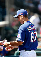 Derek Holland   - Texas Rangers - 2009 spring training.Photo by:  Bill Mitchell/Four Seam Images