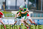 Padraig Boyle Kerry  in action against Greg Murphy Cork in the Co-op Superstores Munster Senior Hurling League on Sunday 14th January in Austin Stack Park, Tralee.