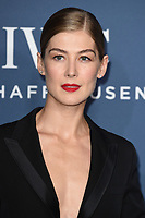 Rosamund Pike<br /> arriving for the 2018 IWC Schaffhausen Gala Dinner in Honour of the BFI at the Electric Light Station, London<br /> <br /> ©Ash Knotek  D3437  09/10/2018